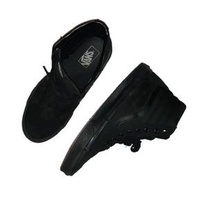 Vans skateboard shoes size womens 11 all black